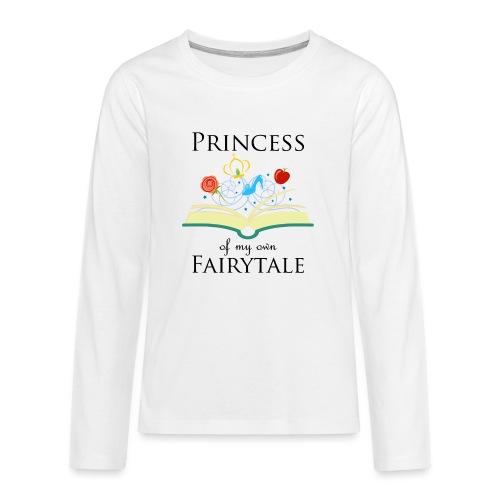 Princess of my own fairytale - Black - Teenagers' Premium Longsleeve Shirt