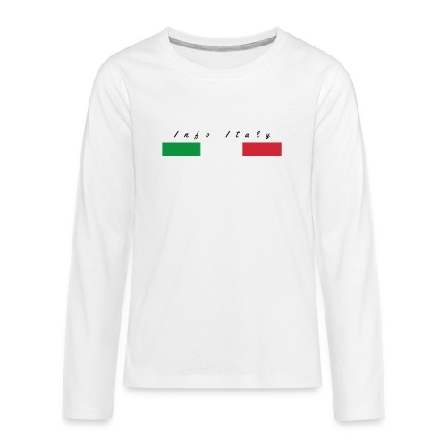 Info Italy Design - Maglietta Premium a manica lunga per teenager