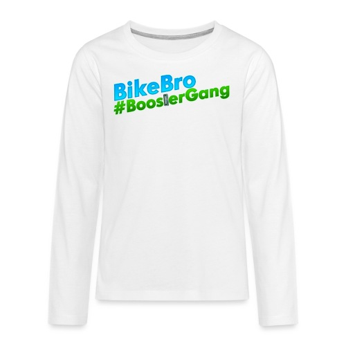 Bikebro #BoosterGang - Teenager premium T-shirt med lange ærmer