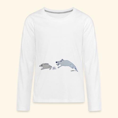 LeniT Catch Me If You Can - Teinien premium pitkähihainen t-paita