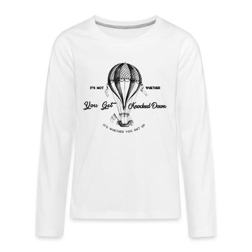 balon - Koszulka Premium z długim rękawem dla nastolatków
