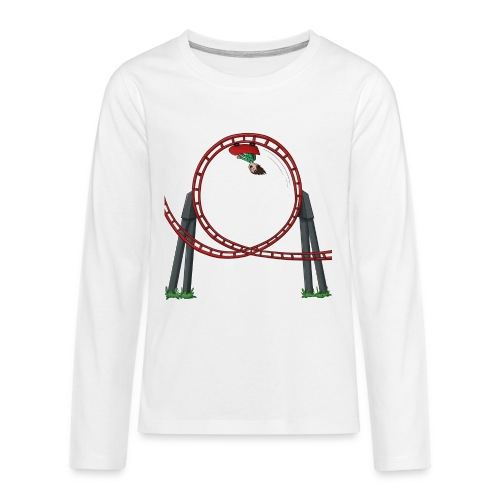 Davincstyle Looping Wit - Teenager Premium shirt met lange mouwen