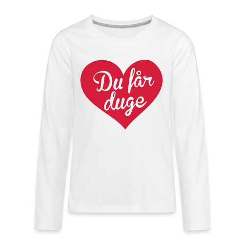 Ekte kjærlighet - Det norske plagg - Premium langermet T-skjorte for tenåringer