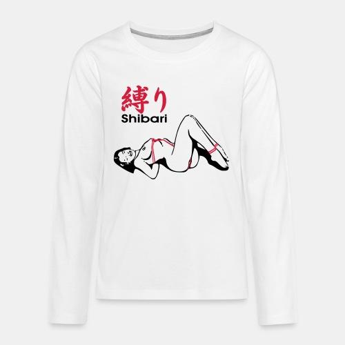 bound Shibari 2col - Teenager Premium Langarmshirt