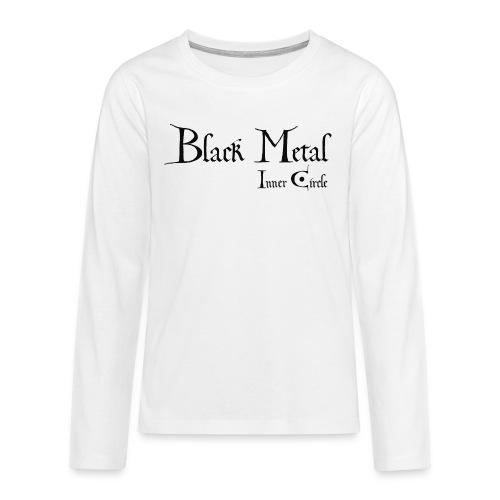 black metal Inner Circle, black ink - Teenagers' Premium Longsleeve Shirt