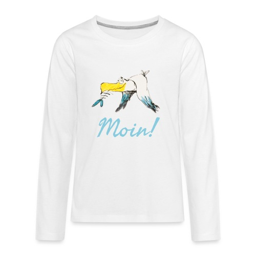 Lustige Moin Möwe von Volker Ernsting - Teenager Premium Langarmshirt