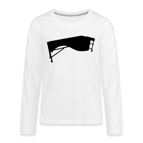 Marimba Kontur - Teenager Premium Langarmshirt