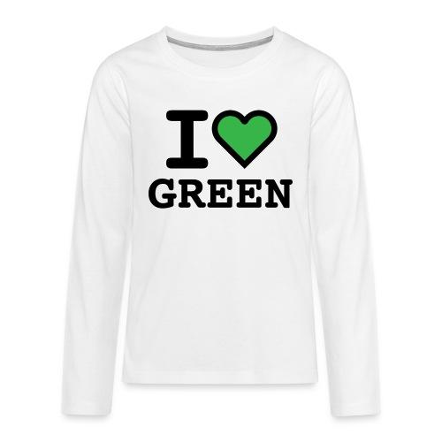 i-love-green-2.png - Maglietta Premium a manica lunga per teenager