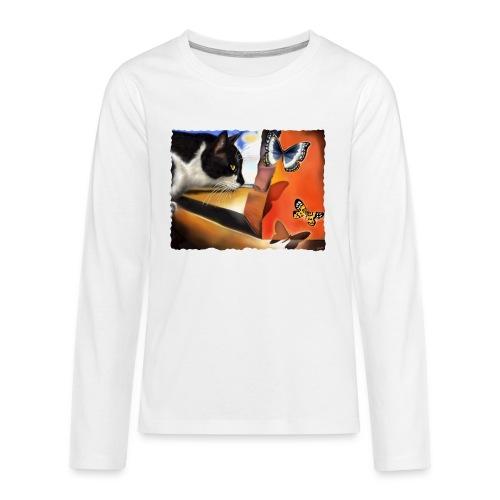 Il gatto di Dalí - Maglietta Premium a manica lunga per teenager