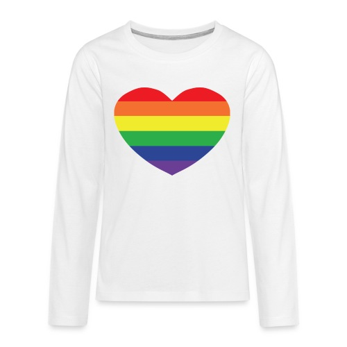 Rainbow heart - Teenagers' Premium Longsleeve Shirt
