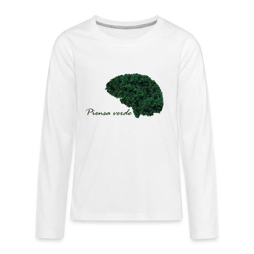 Piensa verde - Camiseta de manga larga premium adolescente