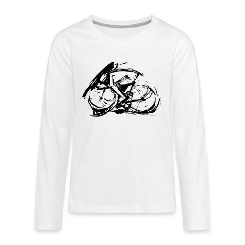 futuristischer radfahrer - Teenager Premium Langarmshirt