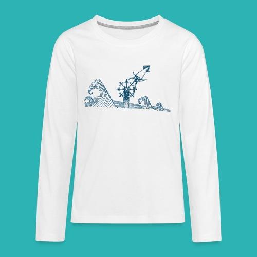 Carta_timone_blu-png - Maglietta Premium a manica lunga per teenager