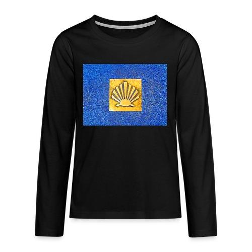Scallop Shell Camino de Santiago - Teenagers' Premium Longsleeve Shirt