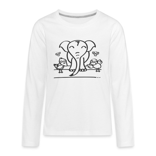 78 elephant - Teenager Premium Langarmshirt