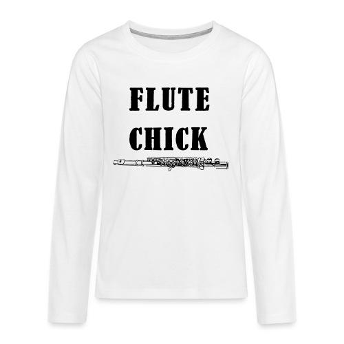 Flute Chick - Premium langermet T-skjorte for tenåringer