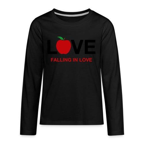 Falling in Love - Black - Teenagers' Premium Longsleeve Shirt