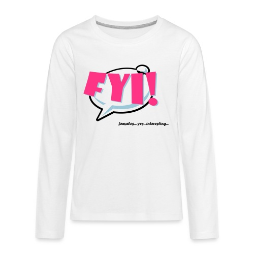 FYI.ai - Teinien premium pitkähihainen t-paita