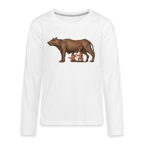 Wilczyca kapitolińska   Capitoline Wol - Koszulka Premium z długim rękawem dla nastolatków