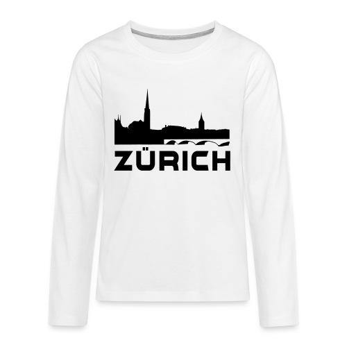 Zürich - Teenager Premium Langarmshirt