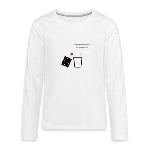Regali per Innamorati | Mi Completi - Maglietta Premium a manica lunga per teenager