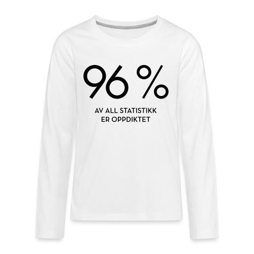 Statistikk-sprøyt (fra Det norske plagg) - Premium langermet T-skjorte for tenåringer