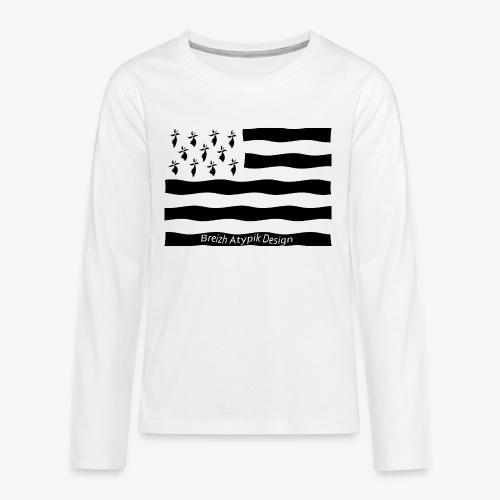 Gwenn ha Du-Noir fond transparent - T-shirt manches longues Premium Ado