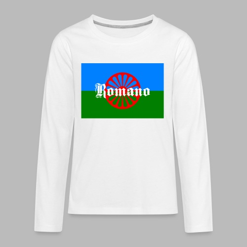 Flag of the Romanilenny people svg - Långärmad premium T-shirt tonåring