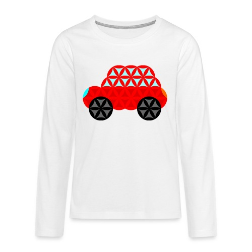 The Car Of Life - M01, Sacred Shapes, Red/R01. - Teenagers' Premium Longsleeve Shirt