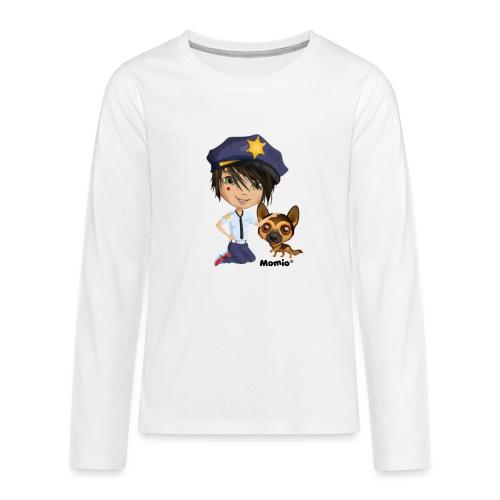 Jack and dog - av Momio Designer Cat9999 - Premium langermet T-skjorte for tenåringer