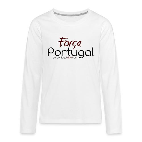 Força Portugal - T-shirt manches longues Premium Ado