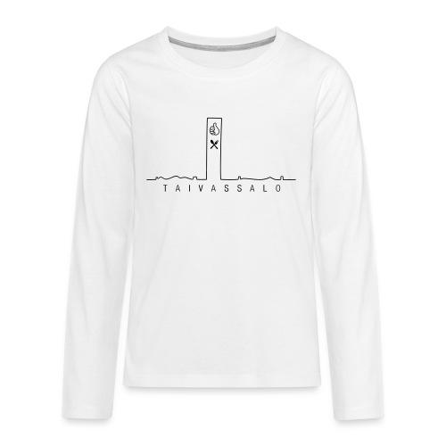 Taivassalo -printti - Teinien premium pitkähihainen t-paita