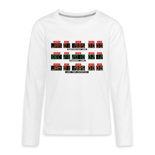 Back To The Future DeLorean Time Travel Console - Teenagers' Premium Longsleeve Shirt