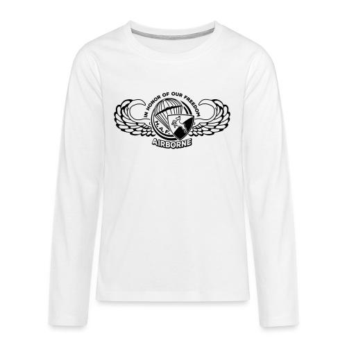 HAF tshirt back2015 - Teenagers' Premium Longsleeve Shirt