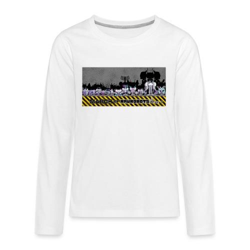 #MarchOfRobots ! LineUp Nr 2 - Teenager premium T-shirt med lange ærmer