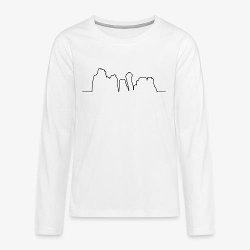 Kontur der Externsteine - Teenager Premium Langarmshirt