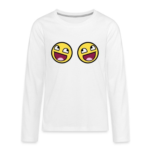 Boxers lolface 300 fixed gif - Teenagers' Premium Longsleeve Shirt