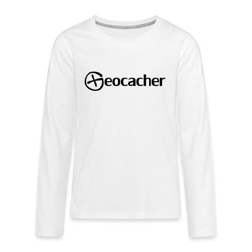 Geocacher - Teinien premium pitkähihainen t-paita
