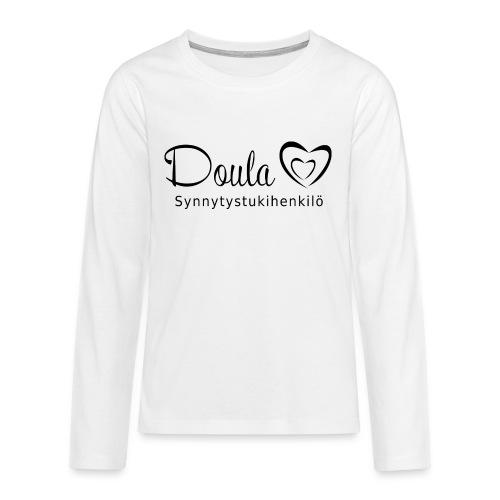 doula sydämet synnytystukihenkilö - Teinien premium pitkähihainen t-paita