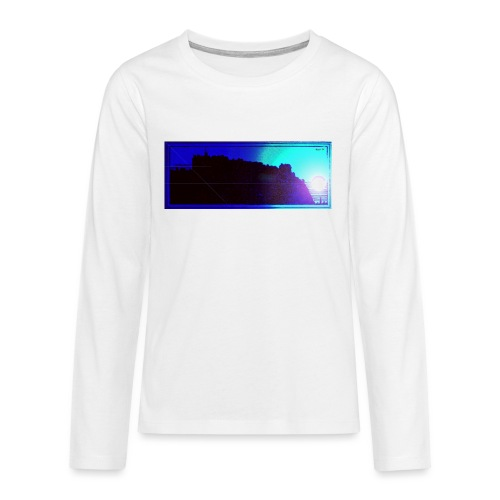 Silhouette of Edinburgh Castle - Teenagers' Premium Longsleeve Shirt