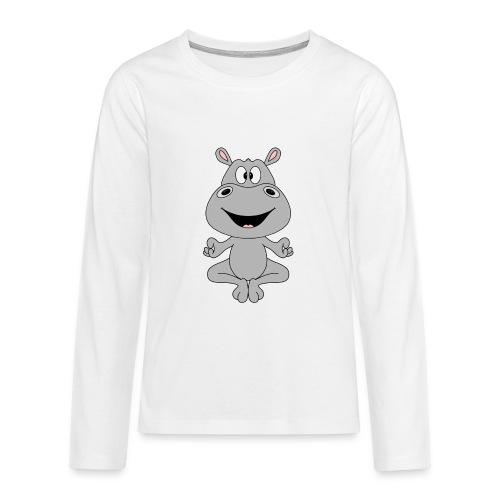 FLUSSPFERD - HIPPO - NILPFERD - YOGA - PILATES - Teenager Premium Langarmshirt