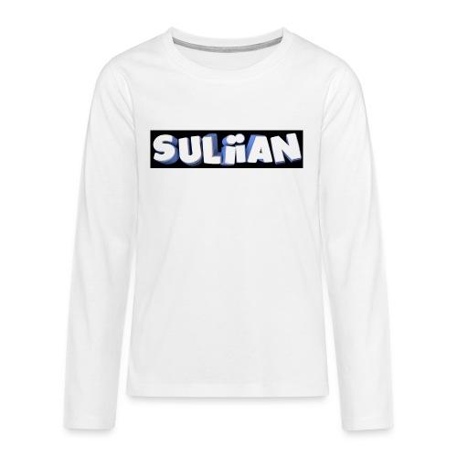 Suliian -Schrift 1 - Teenager Premium Langarmshirt
