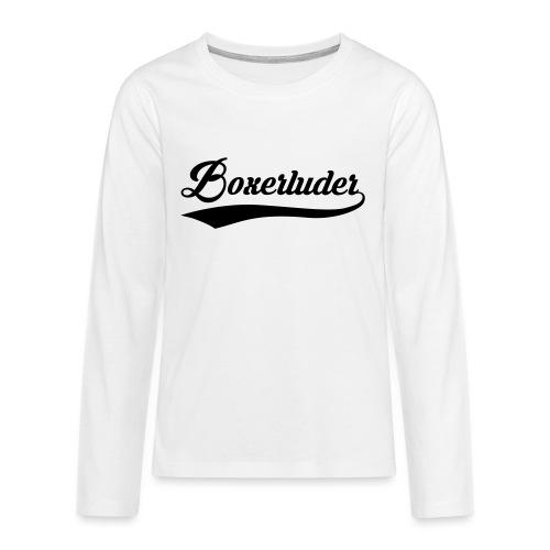 Motorrad Fahrer Shirt Boxerluder - Teenager Premium Langarmshirt