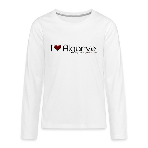 I Love Algarve - T-shirt manches longues Premium Ado