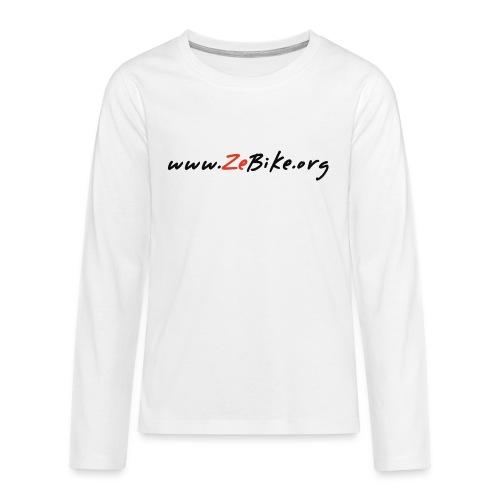 wwwzebikeorg s - T-shirt manches longues Premium Ado