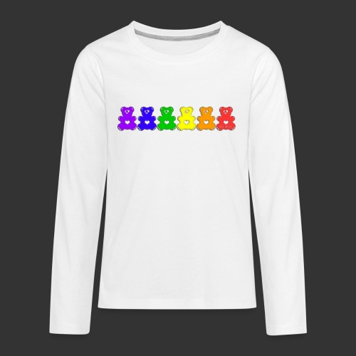 Bärenlust Regenbogen Bären-Reihe - Teenager Premium Langarmshirt