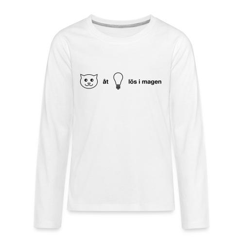 Katt åt lampa - Långärmad premium T-shirt tonåring