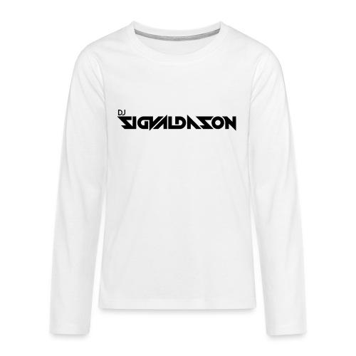 DJ logo sort - Teenager premium T-shirt med lange ærmer
