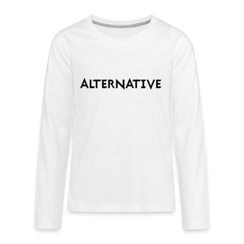 Im Hoodie White - Koszulka Premium z długim rękawem dla nastolatków