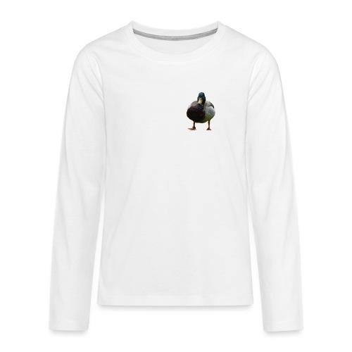 A lone duck - Teenagers' Premium Longsleeve Shirt